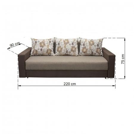 Canapea NICO 3L LUX, extensibila, relaxa, cu lada depozitare3