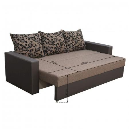 Canapea NICO 3L LUX, extensibila, relaxa, cu lada depozitare5