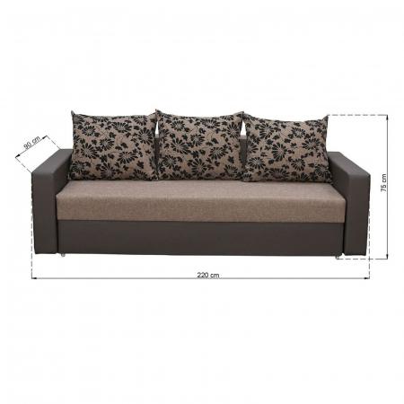 Canapea NICO 3L LUX, extensibila, relaxa, cu lada depozitare6