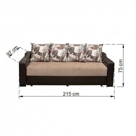 Canapea ROYAL, extensibila, relaxa, cu lada depozitare3