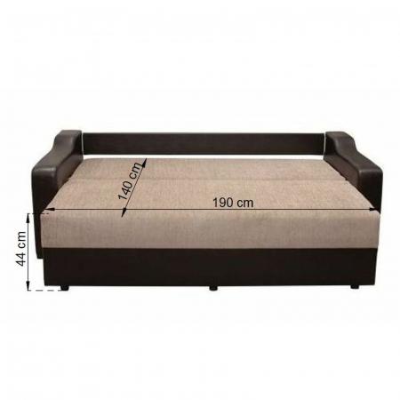 Canapea ROYAL, extensibila, relaxa, cu lada depozitare4