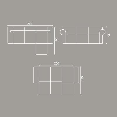 Coltar Seul Extensibil cu lada pentru depozitare - ExpoMob [5]