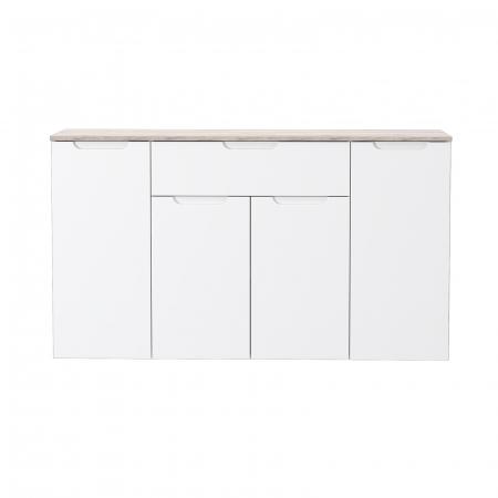 Comoda MORENO cu 4 usi si un sertar, 139x34x80 cm