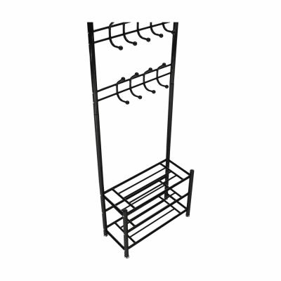 Cuier BARNUM cu dulap pentru încălţăminte, metal negru4