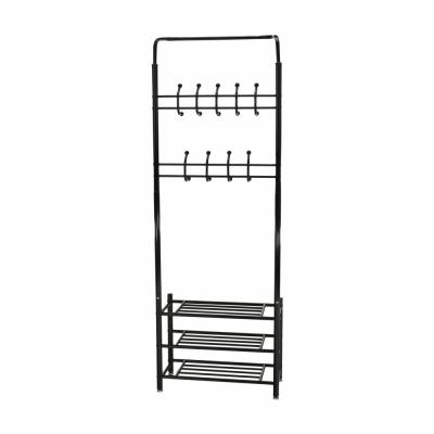 Cuier BARNUM cu dulap pentru încălţăminte, metal negru1