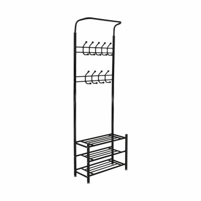 Cuier BARNUM cu dulap pentru încălţăminte, metal negru0