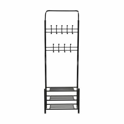 Cuier BARNUM cu dulap pentru încălţăminte, metal negru3