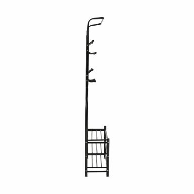 Cuier BARNUM cu dulap pentru încălţăminte, metal negru2
