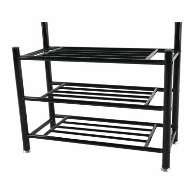 Cuier BARNUM cu dulap pentru încălţăminte, metal negru7