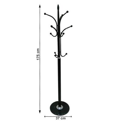 Cuier Belvin din metal / marmura neagra - ExpoMob [1]