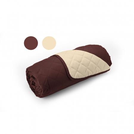 Cuvertura matlasata cu 2 fete, microfibra, 210x220 cm, Chocolate & Vanila2