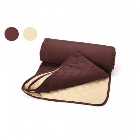 Cuvertura matlasata cu 2 fete, microfibra, 210x220 cm, Chocolate & Vanila0