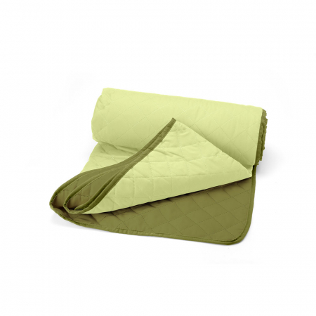 Cuvertura matlasata cu 2 fete, microfibra, 210x220 cm, Olive & Lime1