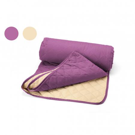 Cuvertura matlasata cu 2 fete, microfibra, 210x220 cm, Purple & Vanila - ExpoMob [0]