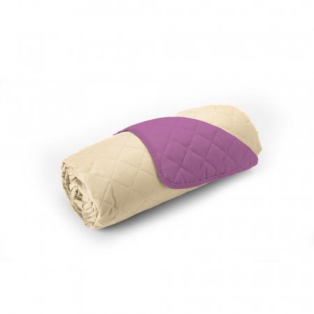 Cuvertura matlasata cu 2 fete, microfibra, 210x220 cm, Purple & Vanila - ExpoMob [3]