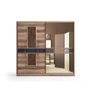 Set Dormitor ABELYA, Pat 160X200 cu somieră și spațiu depozitare, 5 piese7