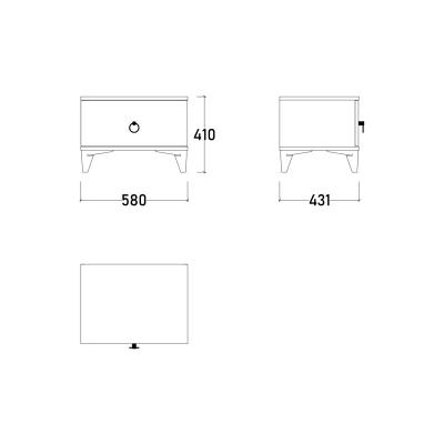Set Dormitor ABELYA, Pat 160X200 cu somieră și spațiu depozitare, 5 piese12