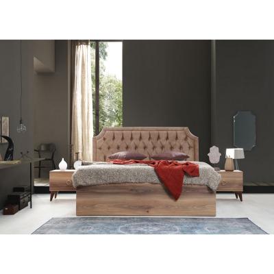 Set Dormitor ABELYA, Pat 160X200 cu somieră și spațiu depozitare, 5 piese2