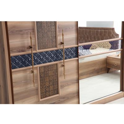 Set Dormitor ABELYA, Pat 160X200 cu somieră și spațiu depozitare, 5 piese3