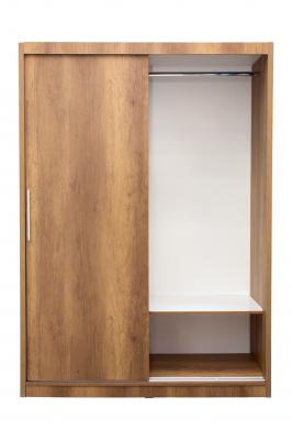 Dormitor complet SOFIA, Dulap usi glisante ECO L-150, Pat cu tablie tapitata, 2 noptiere si comoda TV5