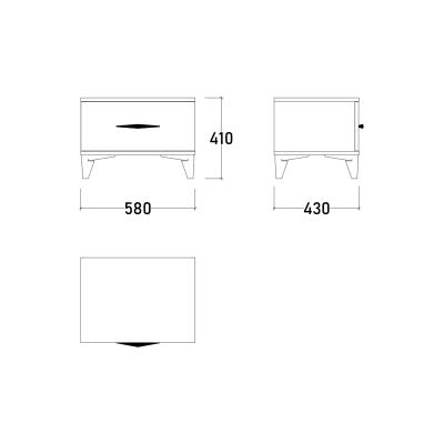Set Dormitor DREAM, Pat tapitat 160X200 cu somieră și spațiu depozitare, 5 piese14
