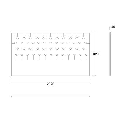 Set Dormitor DREAM, Pat tapitat 160X200 cu somieră și spațiu depozitare, 5 piese9
