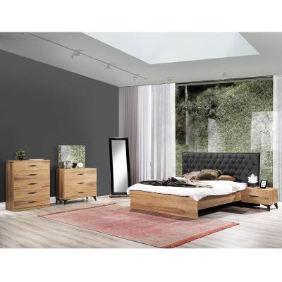 Set Dormitor DREAM, Pat tapitat 160X200 cu somieră și spațiu depozitare, 5 piese2