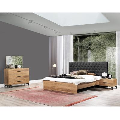 Set Dormitor DREAM, Pat tapitat 160X200 cu somieră și spațiu depozitare, 5 piese1