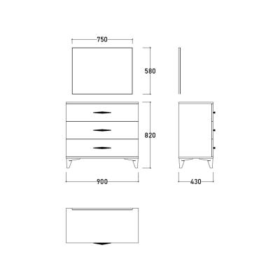Set Dormitor DREAM, Pat tapitat 160X200, 5 piese13