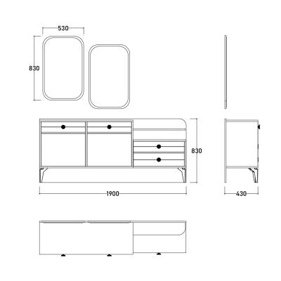 Set Dormitor EYMIR, Pat tapitat 160X200 cu somieră și spațiu depozitare, 6 piese13