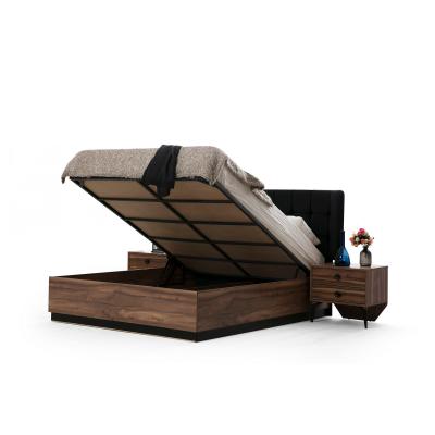 Set Dormitor EYMIR, Pat tapitat 160X200 cu somieră și spațiu depozitare, 6 piese7