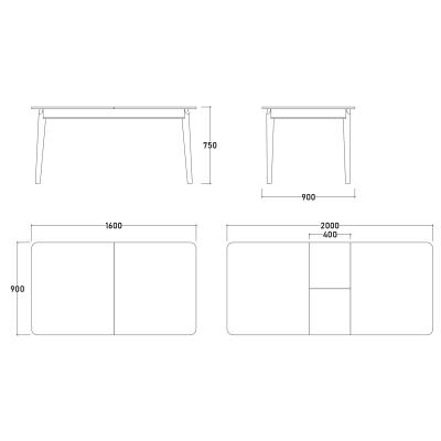 Set Dormitor EYMIR, Pat tapitat 160X200 cu somieră și spațiu depozitare, 6 piese11