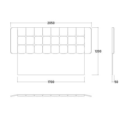 Set Dormitor EYMIR, Pat tapitat 160X200 cu somieră și spațiu depozitare, 6 piese17