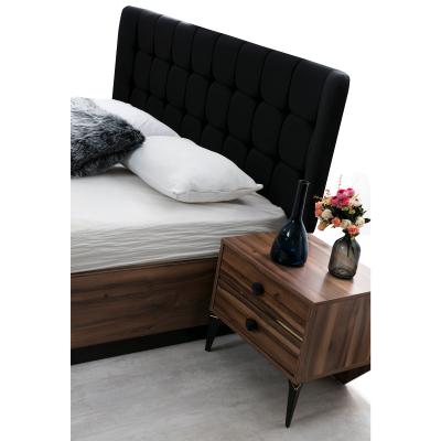 Set Dormitor EYMIR, Pat tapitat 160X200 cu somieră și spațiu depozitare, 6 piese3