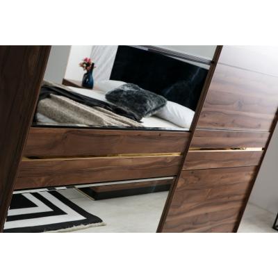 Set Dormitor EYMIR, Pat tapitat 160X200 cu somieră și spațiu depozitare, 6 piese5
