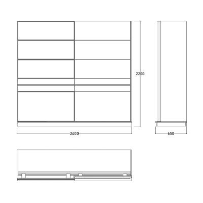 Set Dormitor EYMIR, Pat tapitat 160X200 cu somieră și spațiu depozitare, 6 piese16