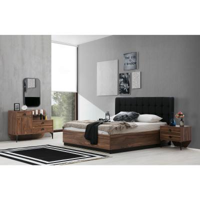 Set Dormitor EYMIR, Pat tapitat 160X200 cu somieră și spațiu depozitare, 6 piese1
