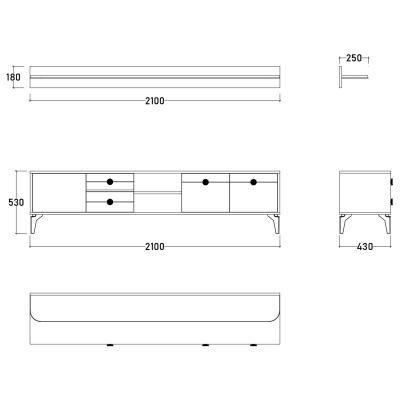 Set Dormitor EYMIR, Pat tapitat 160X200 cu somieră și spațiu depozitare, 6 piese10