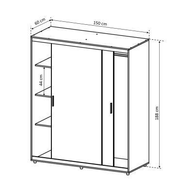 Dulap Corina cu usi glisante pentru dormitor - ExpoMob [4]