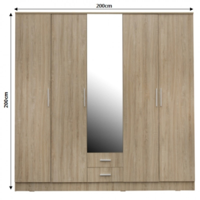 Dulap OFELIA 5 usi cu oglinda1