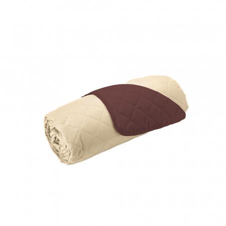 Husa pentru canapea 3 locuri matlasata cu doua fete, Chocolate / Vanila3