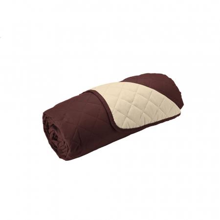 Husa pentru canapea 3 locuri matlasata cu doua fete, Chocolate / Vanila2