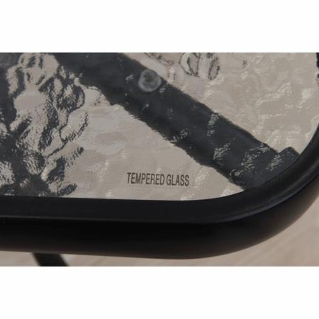 Masă dining cu loc pentru umbrelă, sticlă întărită/oţel, DEMAT NEW - Expomob [5]
