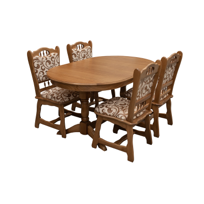 Set masa masiv extensibila cu 4 scaune masiv EUROPA, Stejar0