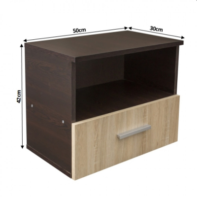 Noptiera Alma cu un sertar pentru dormitor- ExpoMob [3]