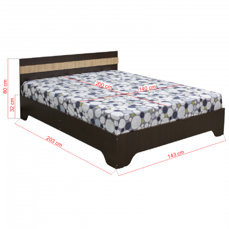Pat Alma 140x200 cu picioare pentru dormitor - ExpoMob [1]