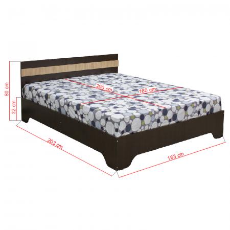 Pat Alma 160x200 cu picioare pentru dormitor - ExpoMob [1]
