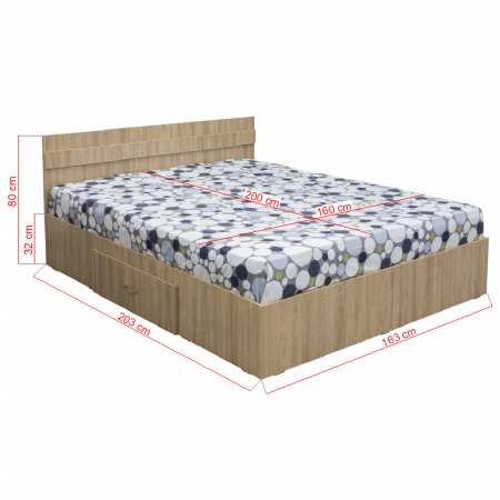Pat Alma 160x200 cu sertar pentru dormitor  - ExpoMob [1]