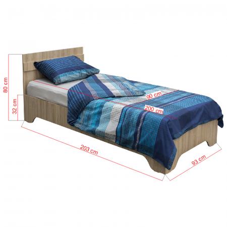 Pat Alma 90x200 cu picioare pentru dormitor - ExpoMob [2]