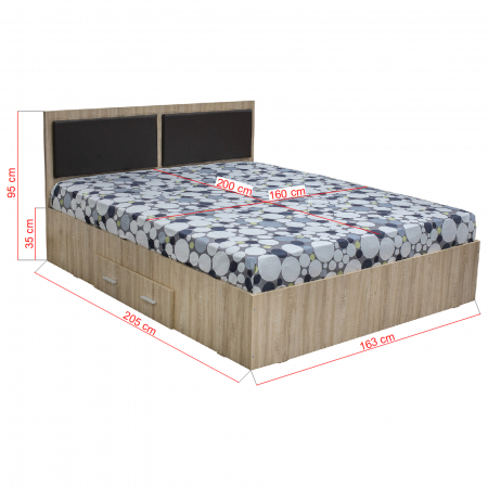 Pat Ofelia 160x200 cu sertar pentru dormitor - ExpoMob [1]